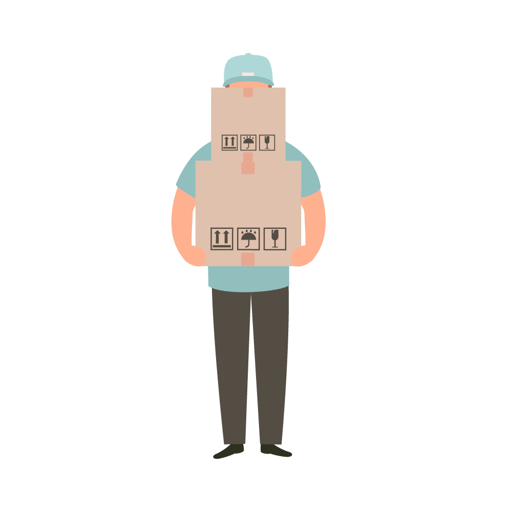Man carrying items